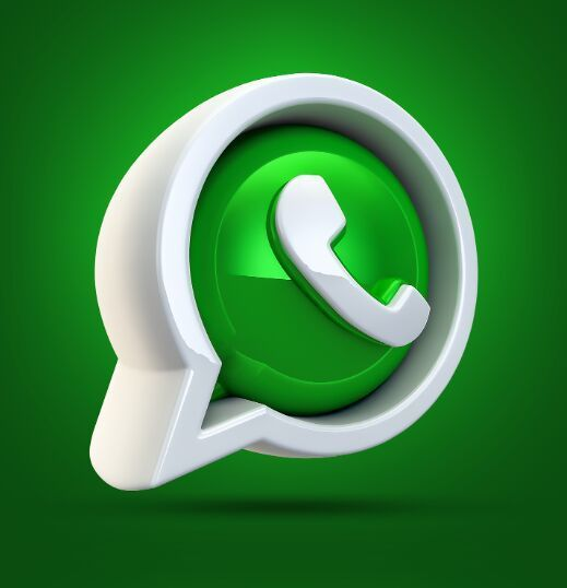 3d Whatsapp Icon Psd Icone Ios Fundo De Aquarela Icone Whatsapp