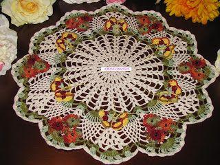Krone Crochet: Brand new off white (natural white) crochet doily ...