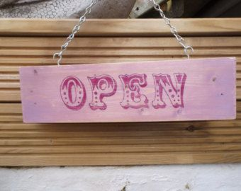 Business Sign OPEN CLOSED two sided Shop Decor by OldAndNewShoppe