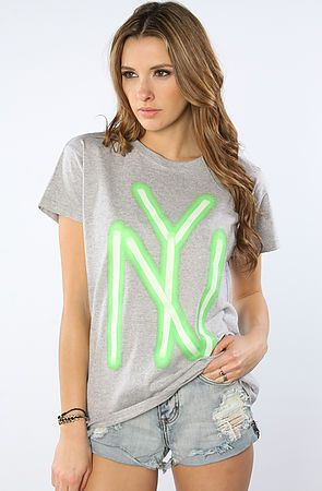 The NY Sticks Tee in Heather Gray L|M|S