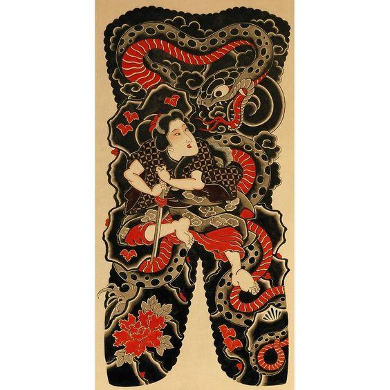 """""""綱手姫と大蛇"""""""