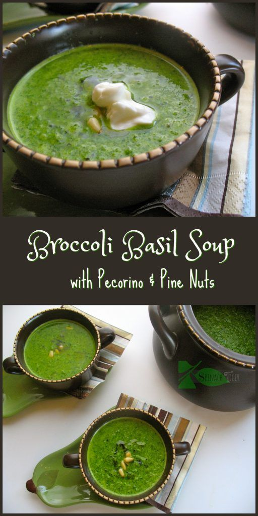 Broccoli Basil Soup by Spinach Tiger
