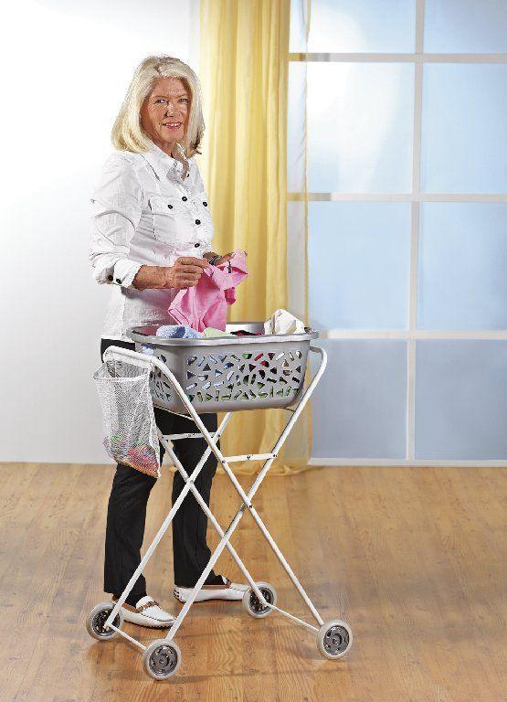 Daily Ergonomischer Wäschkorbtrolley Wäschetrolly Wäschewagen Bügelhilfe