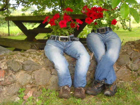 Dżinsowe spodnie.