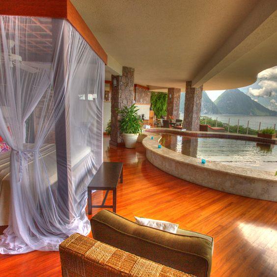 Infinity Pool Sanctuary @ St. Lucia's Jade Mountain Resort