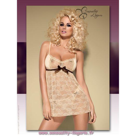 """Promo Sexy dans l'onglet """"Aubaines"""" du site ❤ De 15 % à 50 % de remise jusqu'au 2 août 2016 ❤ ✩★✩ Babydoll Gourmand Caramel - Obsessive ✩★✩ Petit prix !!! Pour cette gourmandise couleur caramel. ►►http://www.sensuality-lingerie.fr/obsessive/1471-babydoll-gourmand-caramel-obsessive.html  Likez ✔- Commentez ✔ - Partagez ✔ #sensuality_lingerie #sensualité #lingerie #Obsessive"""