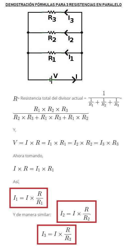 3 Resistencias En Paralelo Electricidad Y Electronica Ingenieria Electronica Electrotecnia