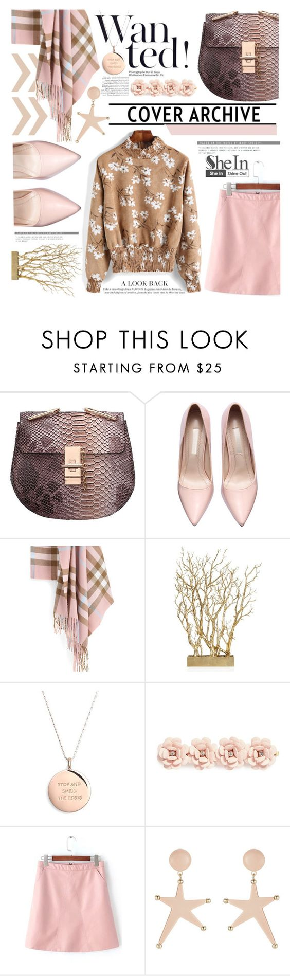 """SheIn Pink Scarf"" by maranella ❤ liked on Polyvore featuring Kate Spade, J.Crew, Marni, women's clothing, women, female, woman, misses, juniors and Pink"