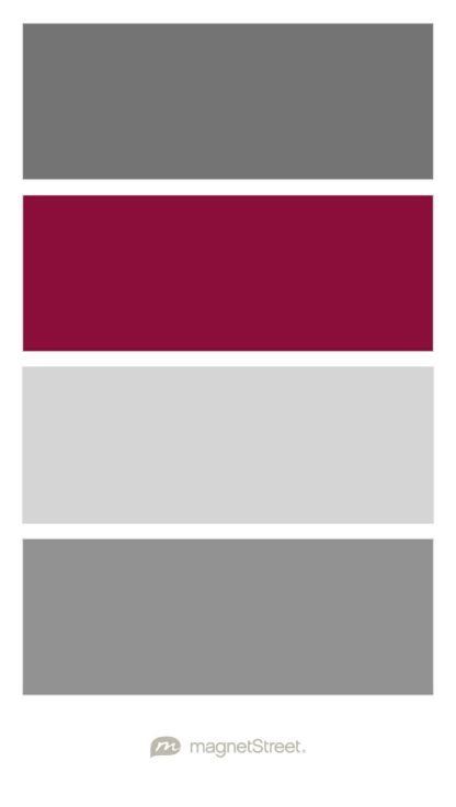 Charcoal burgundy silver and classic gray wedding color - Maroon and grey color scheme ...