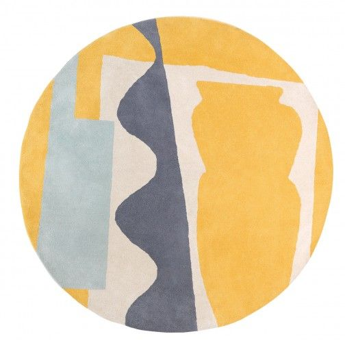 Figures Multi Coloured Hand Tufted Round Rug D200cm Buy Now At Habitat Uk In 2020 Round Rugs Rugs Solid Oak Coffee Table