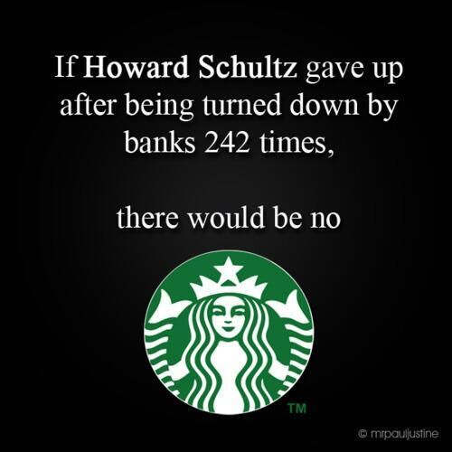 Just a little inspiration for entrepreneurs - never give up!