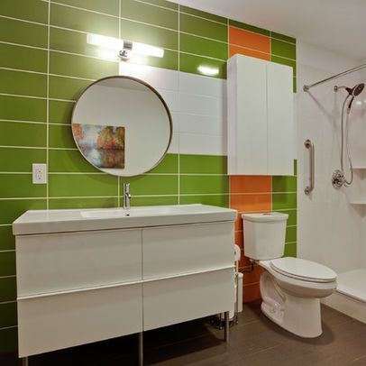 Nod To Mid Century Modern Bathroom New Bathroom Ideas Pinterest Accent Colors Mid Century