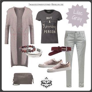 "Frühling/Sommer 2016 Trendfarbe ""lilac gray"": Outfit für den Sommertypen oder ""cool, light, muted"""