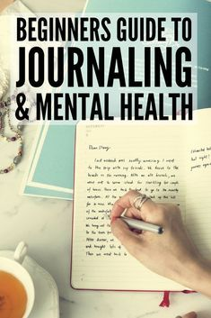 Journaling for Mental Health | Lots of great ideas to teach you how to start journaling for anxiety, depression, and other mental health challenges as well as for therapy and general self-care. Find out how to get started writing today, keep your thoughts