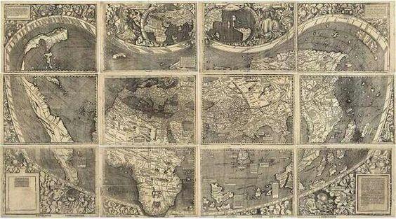 Primer mapamundi en el que aparece América, en 1507