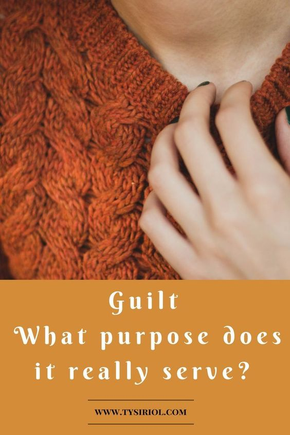 Guilt. What purpose does it really serve? When guilt becomes the norm. Click to read.