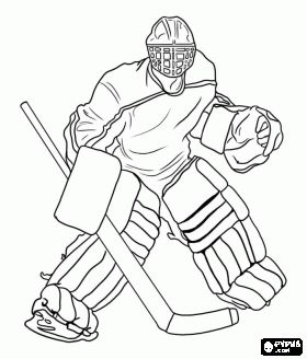 Ice hockey goaltender coloring page emmanuel sharks for Ice hockey coloring pages
