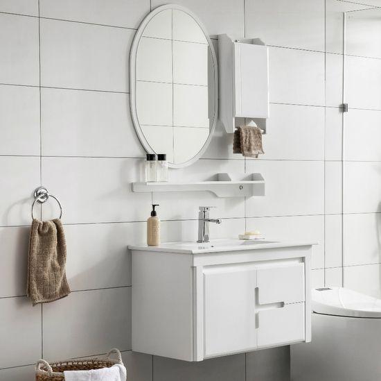 Mobile Bagno Brenda 80 Cm Bianco Completo Di Specchio Mensola E