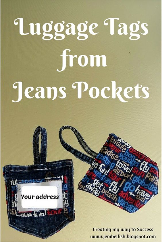 Creating my way to Success: Luggage Tags from Jeans Pockets - an Upcycle Tutorial: