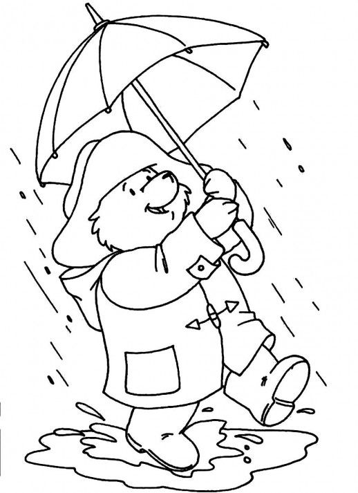 coloring pages for rainy days - photo#8