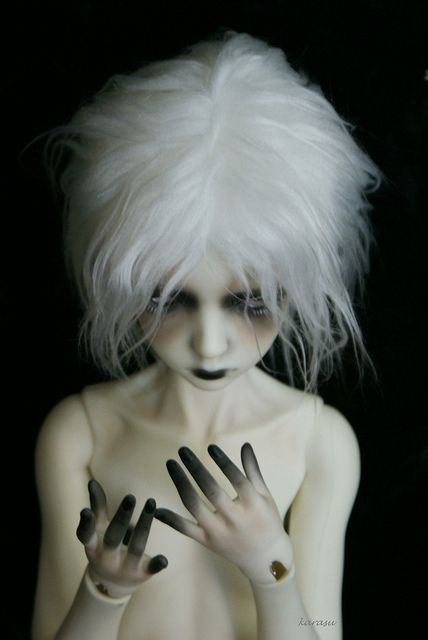 Make-up and stained fingers........................ ................darky