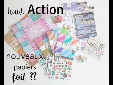 Haul Action Nouveaux Papiers Foil Youtube Feutres