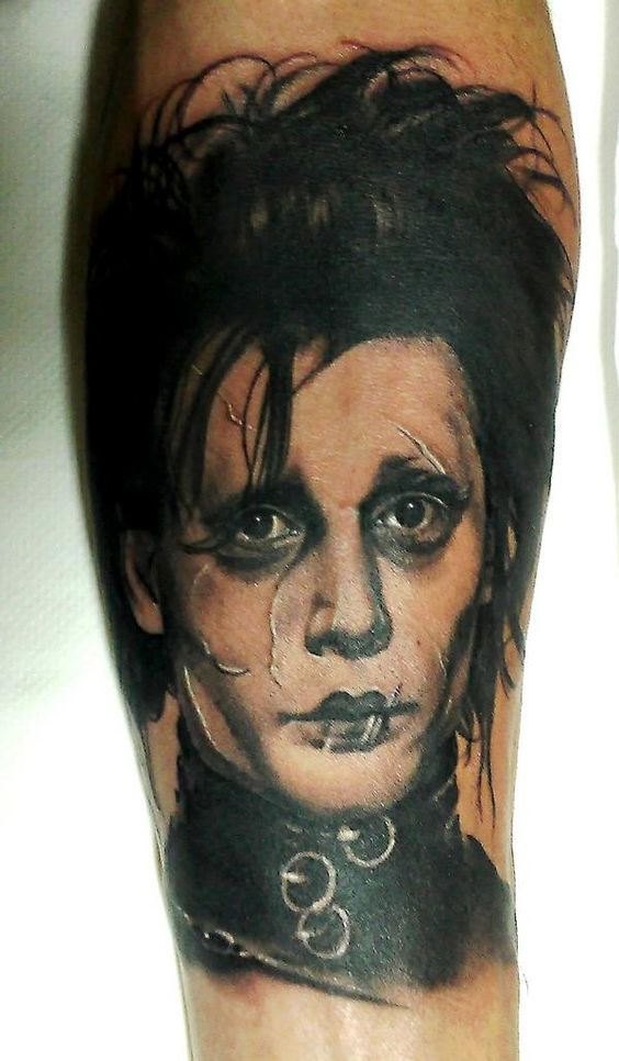 edward scissorhands portrait tattoo by matteo pasqualin horror tattoos pinterest awesome. Black Bedroom Furniture Sets. Home Design Ideas