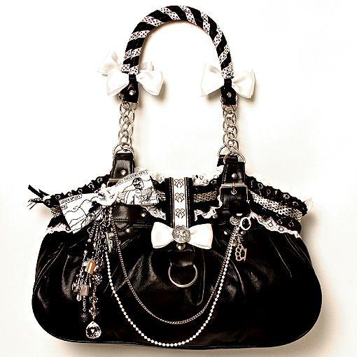 Black & White Positively Charming Handbag
