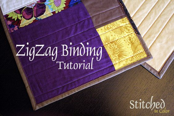 Zigzag Binding Tutorial by StitchedInColor, via Flickr
