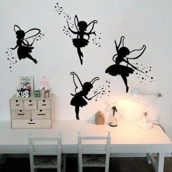 Muurstickers van elfjes voor een mooie prinsessenkamer
