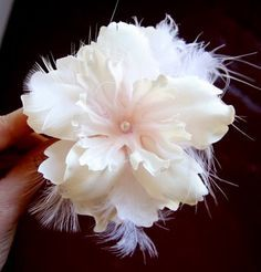 A Wedding in a Week: Hair Flower :  wedding accessories diy pittsburgh Img 364
