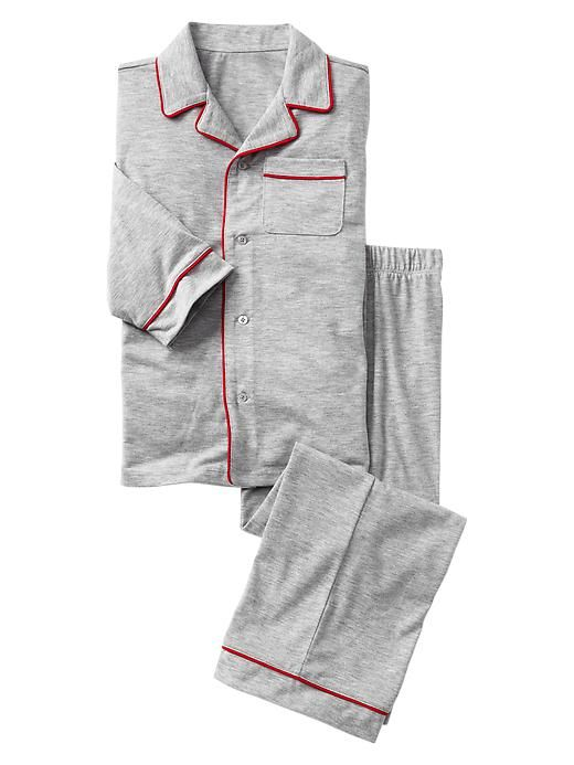 PJ set with red piping. From the boys department but I would get them for my girls and boys. (I might add a red bow to the pocket for my girls.)