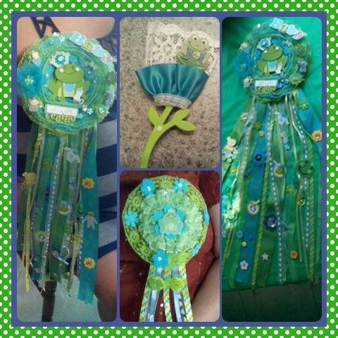Cute lil frog coursage for mommy, grandma & guest ..LP