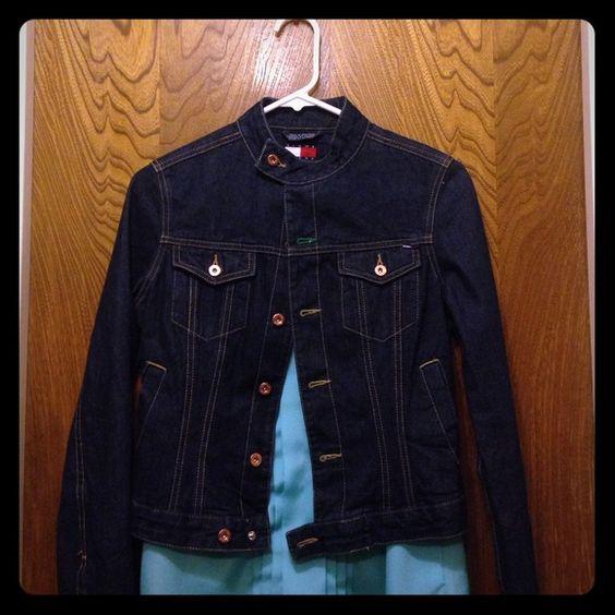 Denim Jacket Tommy Hilfiger Jean Jacket. Price is NEGOTIABLE, use offer button Tommy Hilfiger Jackets & Coats Jean Jackets