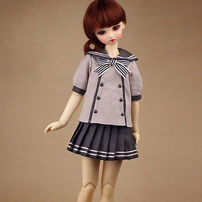 【1 3 1 4】 026 School Uniform A 3pcs Set Outfits Lace Clothes BJD SD | eBay