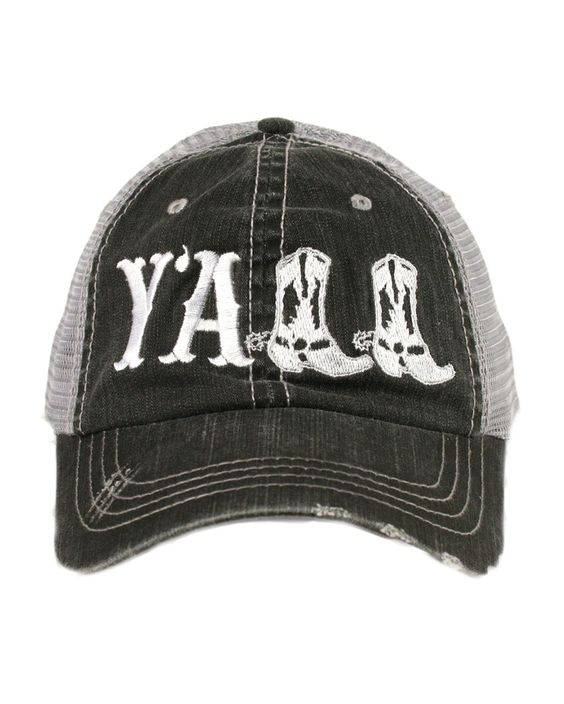 Katydid | Women's Y'all Trucker Hat - White | Country Outfitter