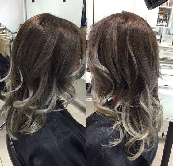 Balayage granny hair