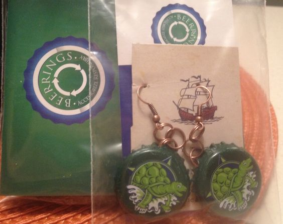 Terrapin Beerrings -- Ready to Ship! Available in ear wires and fish hooks!! Www.thebeerringlimited.com