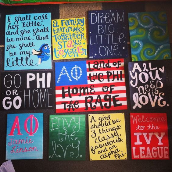 Alpha Phi. Big/little crafts for my best friend's sorority. So many crafts!! :) The big/little reveal is tonight!