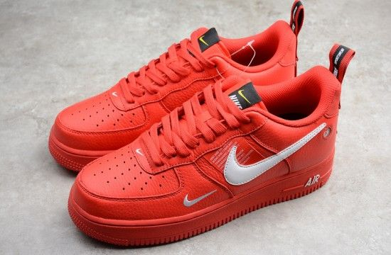 Nike Air Force 1 07 Lv8 Utility Overbranding Team Orange Red