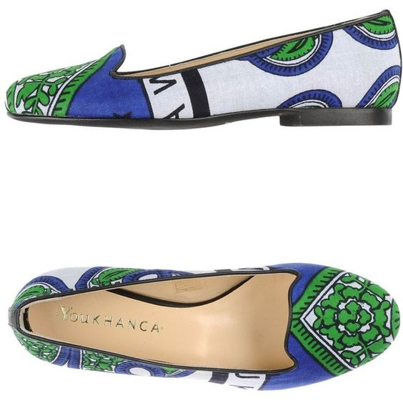 You Khanga Moccasins (585 HRK) ❤ liked on Polyvore featuring shoes, loafers, green, leather flat shoes, colorful shoes, flat shoes, multicolor shoes and multi colored shoes