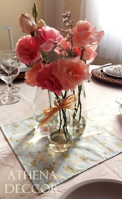 Detalhes de Casamento - Centros de mesa dos convidados!