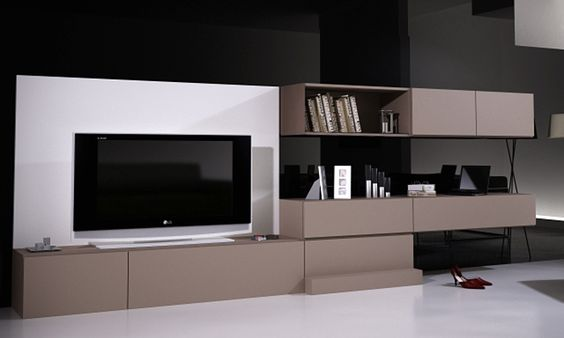 Minimal  mueble tv + biblioteca wwwrodenmobelcom  Productos