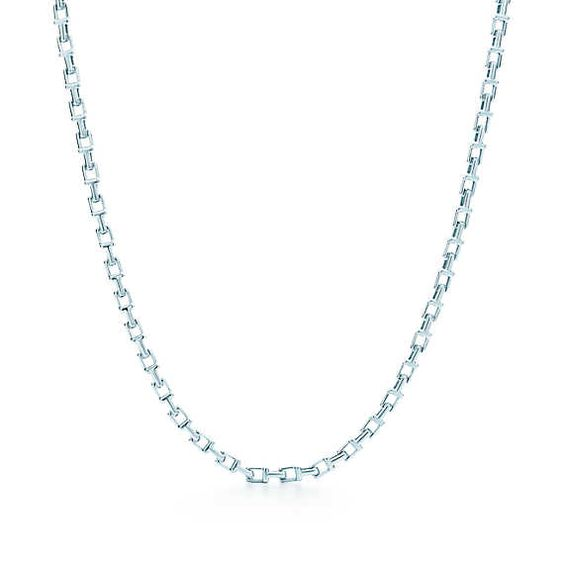 Tiffany T chain necklace in sterling silver.