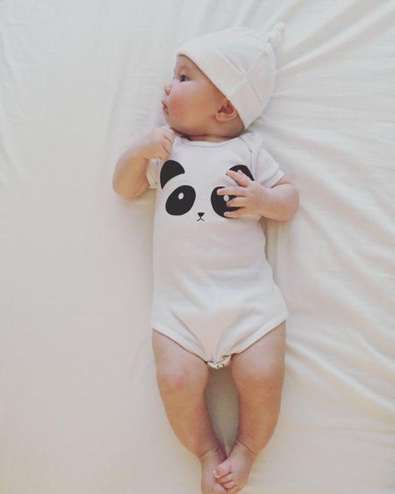 panda onesie by mochikids on etsy