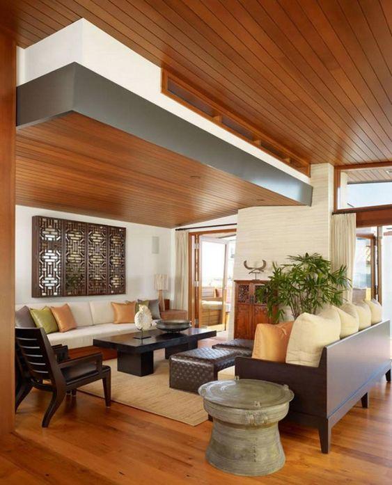 Wooden ceiling design ideas ceiling false ceiling design for Wood trim ceiling ideas