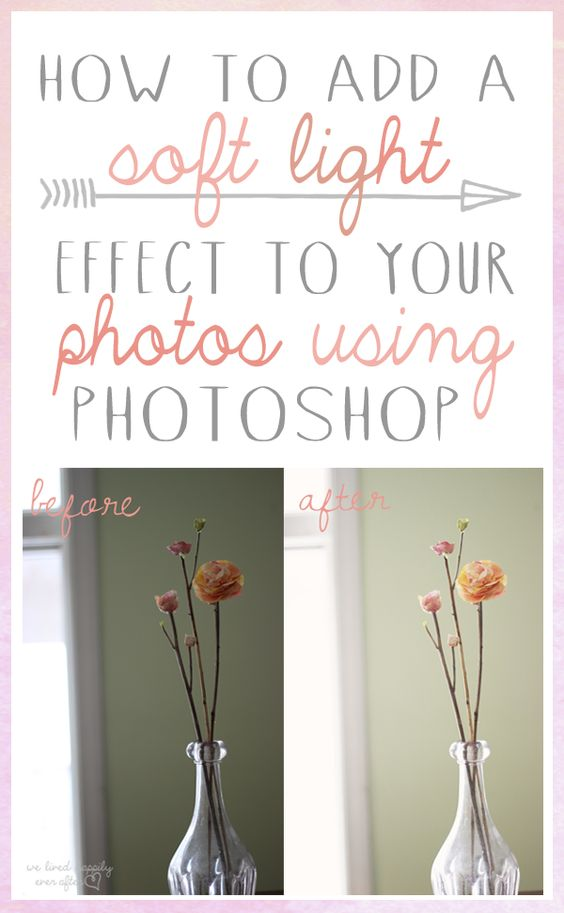"Awesome tutorial on making your photos soft & vintage looking. How to add a ""Soft Light"" to your photos using Photoshop & the shortcut to easily ""Mass Editing"" photos with the same effect."