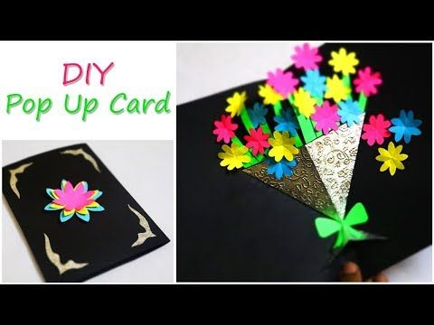 Diy Greetings Card Flower Bouquet Pop Up Card Mother S Day Card Youtube Greeting Cards Handmade Birthday Pop Up Flower Cards Tissue Paper Flowers Diy