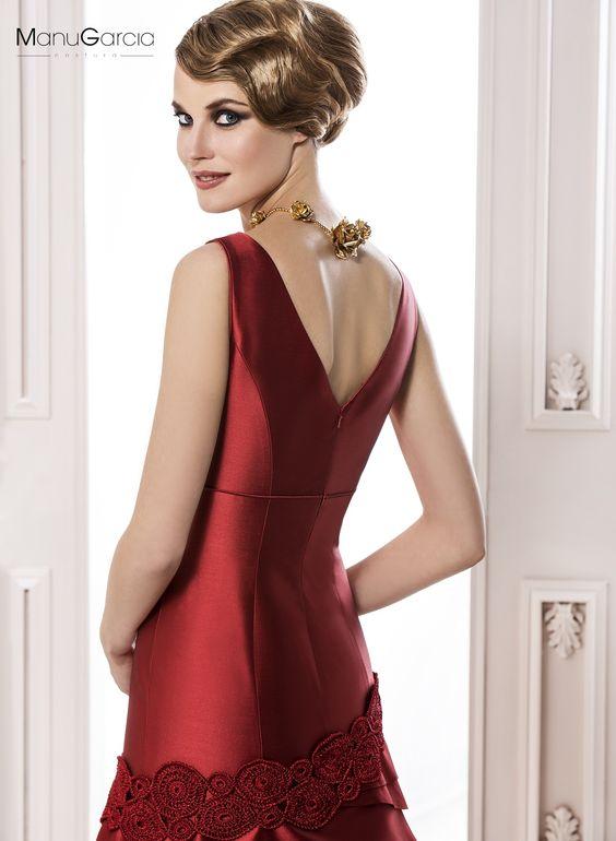 Vestido de fiesta. Colección 2014 #byManuGarcía #rojo