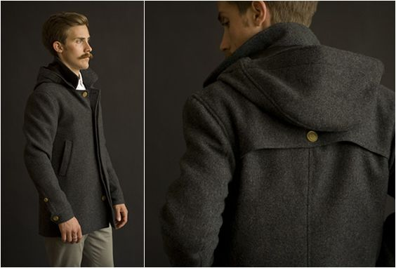 Parka Wool Coat | By Baron Wells | Wool coats and Man style